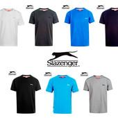 Футболки черная, белая, голубая, серая, синяя, бирюза, бренд «Slazenger» (Великобритания)