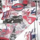Молодежный вариант тюль штора в одном дизайне London