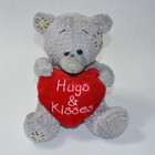 Тедди с сердцем Hugs&kiss  22см.№21