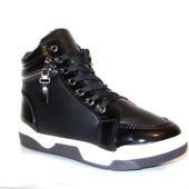 Ботинки зимние черные С324 р.36,41