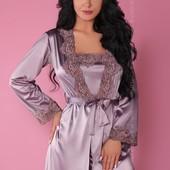 Комплект домашний (халат, сорочка, стринги) Jacqueline violet от Livia Corsetti Супер цена!