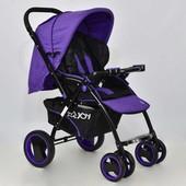 Прогулочная коляска Фиолетовая (Т 100) с чехлом на ножки