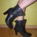 Отличные кожаные сапожки ботинки от известного бренда  Bronx. Размер 38, 39.