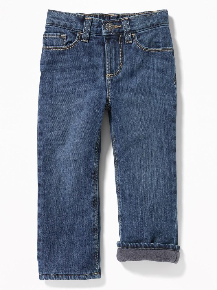Теплые джинсы на флисе old navy для мальчиков от 2 до 5 лет фото №1
