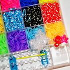 Rainbow Loom набор 5500 разноцветных резинок, станок, крючек для плетения браслетов, сувениров