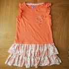 НОВОЕ коралловое платье на  5-6 лет 116 см. Дина - 58 см, ширина под ручками - 31 см.