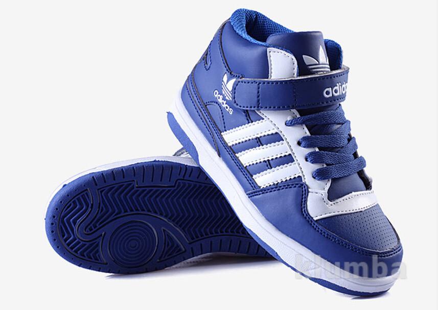 Яркие десткие кроссовки адидас - 4 цвета, высокие на липучке. качество  отличное фото № 9d7e28f1934