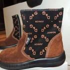 21р.Замшевые,коричневые сапожки D&G ORIGINAL на модницу.Из Италии.