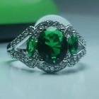 Серебро 925* Кольцо с крупным Изумрудом!