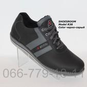 Новинка!! Кожаные мужские туфли Ecco реплика