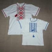 новая вышиванка для мальчика короткий рукав 30,32,34,36 размер от 3-8 лет