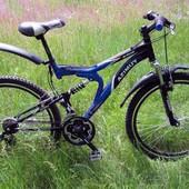 Азимут Бластер 26 ( Azimut Blaster 26 127G) двухподвес горный велосипед тормоза V-brake