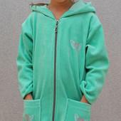 Халат детский велюровый 00119 (2 цвета)