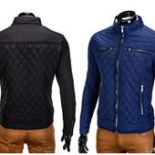 Мужская демисезонная стеганная куртка стойка