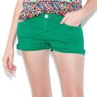 Ярко зеленые джинсовые шортики Denim co размер М(12)