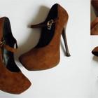 Потрясающие замшевые туфли 39р.
