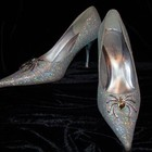 Зеркальные туфельки Queen паучки р.37,5-38