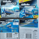 Gillette Mach 3 Turbo (4 шт. в упаковке) - производство Германия