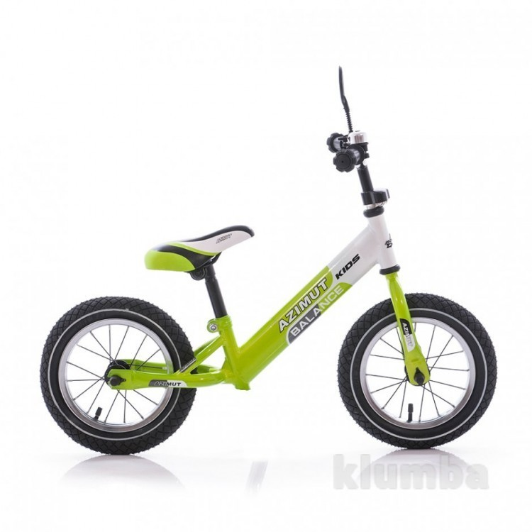 Беговел Azimut Balance Bike Air графит-салатовый (12 Balance bike (AIR) г-с) фото №1