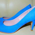 Новые синие туфли под замшу р. 39