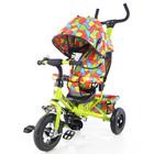 Велосипед трехколесный tilly Trike T-351-1 салатовый с надувными колесами