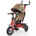 Велосипед трехколесный tilly Trike T-351-2 красный с надувными колесами