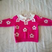 Теплый яркий свитер