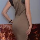 Платье-футляр 10 размер со вставками из кожзама Dorothy Perkins fitted pencil dress