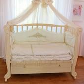 Кровать диван детская Трия Ксения Элегант цвет молочный бук 120 60