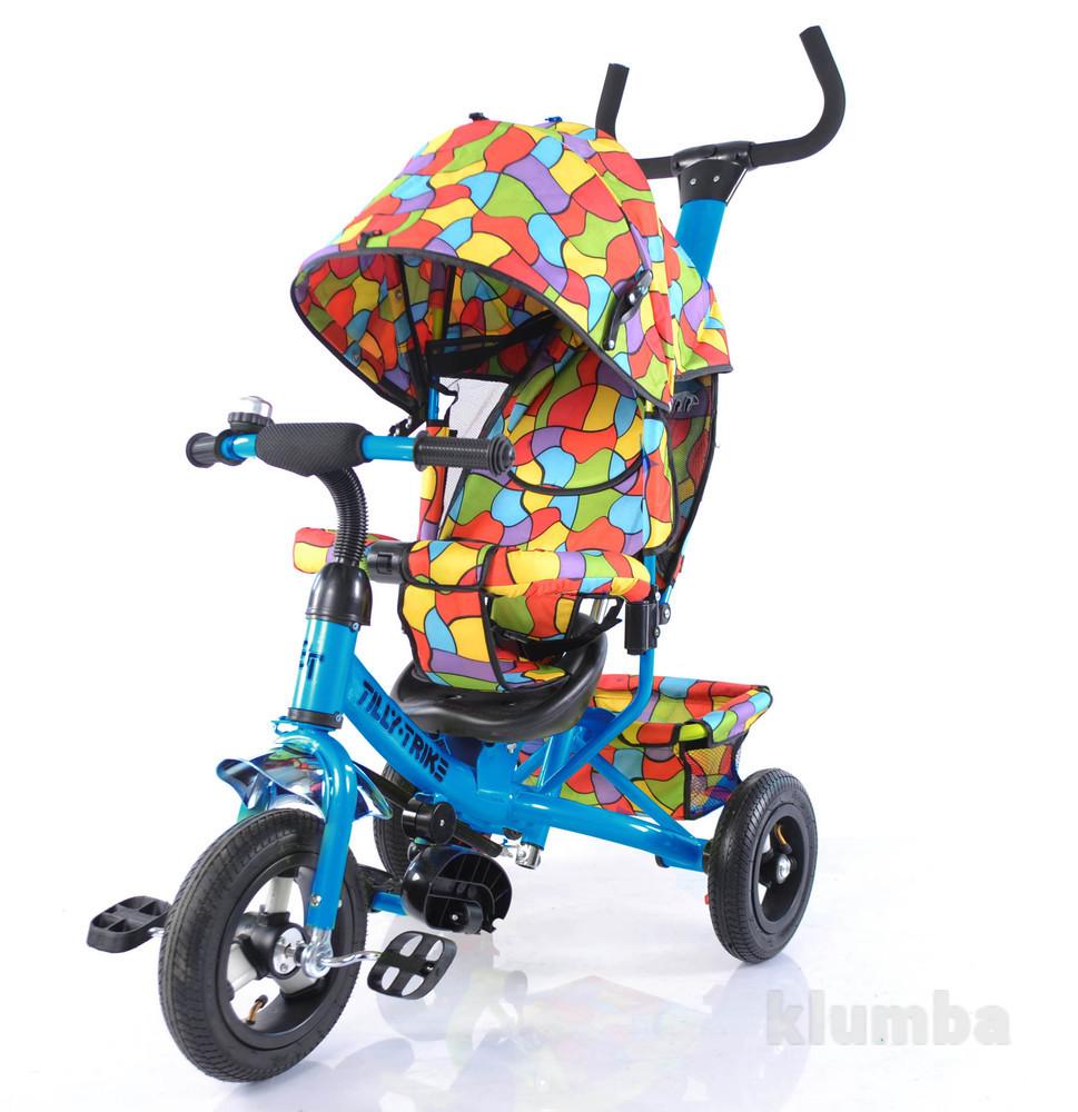 Тилли трайк мозаика t-351-1 детский трехколесный велосипед  надувные колеса фото №1