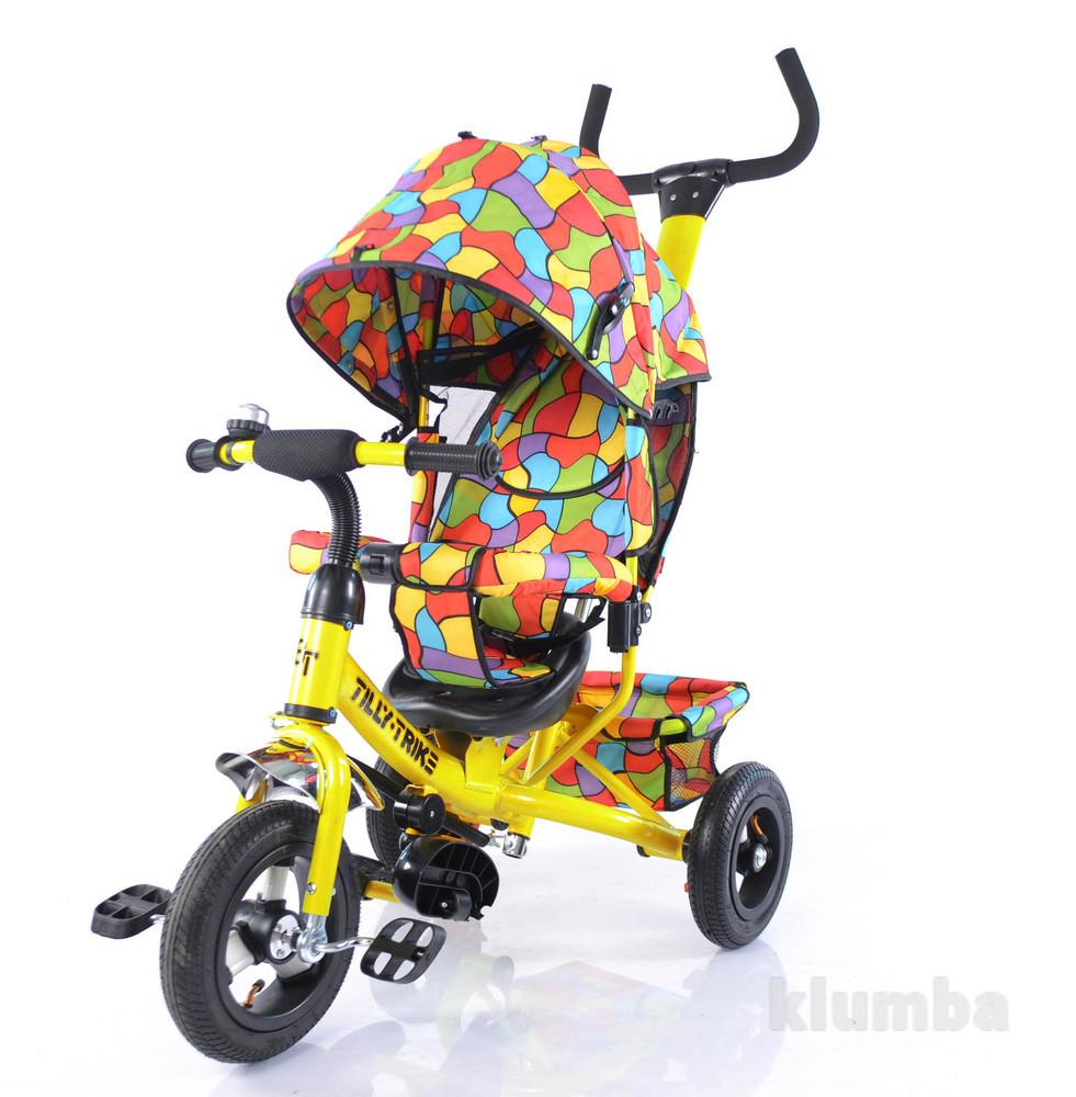 Тилли трайк мозаика t-351-1 детский трехколесный велосипед  надувные колеса фото №2
