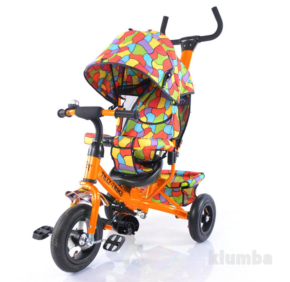 Тилли трайк мозаика t-351-1 детский трехколесный велосипед  надувные колеса фото №3