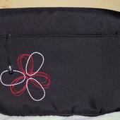 Сумки на коляску Цветок, для коляски чёрные