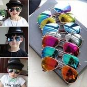 Детские солнцезащитные очки авиаторы с зеркальной линзой в наличии в г. Полтава!