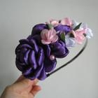 Обруч Цветочный, фиолетовый.