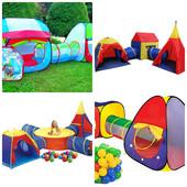 Детские игровые палатки, домики , с тоннелем