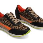 Эффектные стильные женские кроссовки хищным принтом неоновые в двух цветах