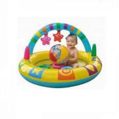 Надувной бассейн с игрушками