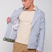 Пиджак мужской с этно-принтом №324-С01