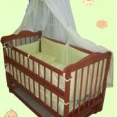 Распродажа! Кроватка маятник +матрас кокос+набор постельного - 1399 грн. Новое