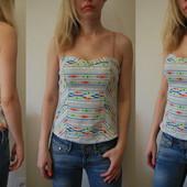 Модный джинсовый топ Bershka размер ХС