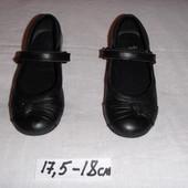 туфельки кожаные для девочки 17.5 18см по стеличке