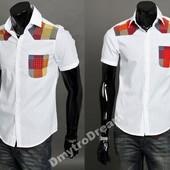 Рубашка с коротким рукавом мужская. Наличие! №рф3