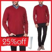 мужской красный свитер LC Waikiki