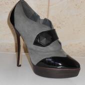 Модные ботильоны ботинки натуральная замша р. 40 (26 см)