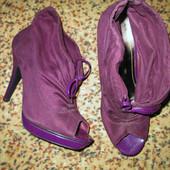 Туфельки темно-фиолетовые