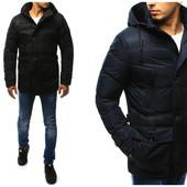 Мужская зимняя куртка парка на плюшевой подкладке