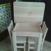 Деревяний дитячий столик стілець з ясена детский столик стул стільчик
