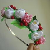 Обруч Цветы и ягоды.