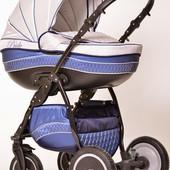 Универсальная коляска 2 в 1 Ajax Group Pride Arctic, синий+металик